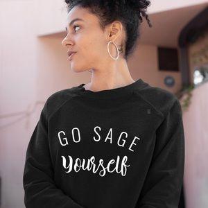 NEW Go Sage Yourself Oversized Sweatshirt S-5X top